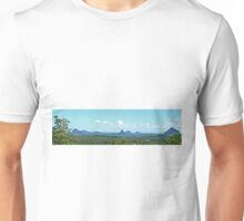 Glasshouse Mountains (Panorama) Unisex T-Shirt