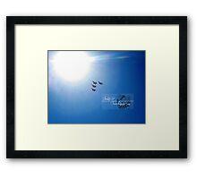 into the sun Framed Print
