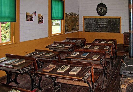 Greenfield Schoolhouse by Pamela Phelps