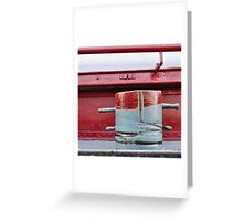 Bitt, red and grey (2) Greeting Card
