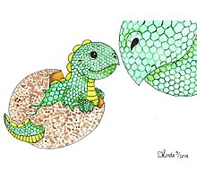 Daily Doodle 7 - Dino Love Photographic Print