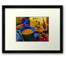 Sax & Coffee. Framed Print