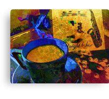 Sax & Coffee. Canvas Print