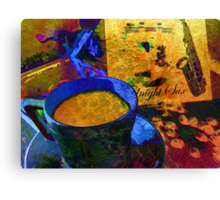 Sax & Coffee. Canvas Print