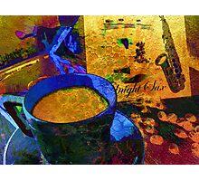 Sax & Coffee. Photographic Print