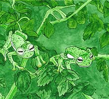 Daily Doodle 9-Camo Frogs by ArtbyMinda