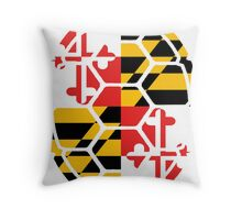 Maryland Flag Shell Throw Pillow