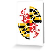 Maryland Flag Shell Greeting Card