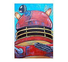 Retro Dalek - celebrating 50 years of Dr Who Photographic Print
