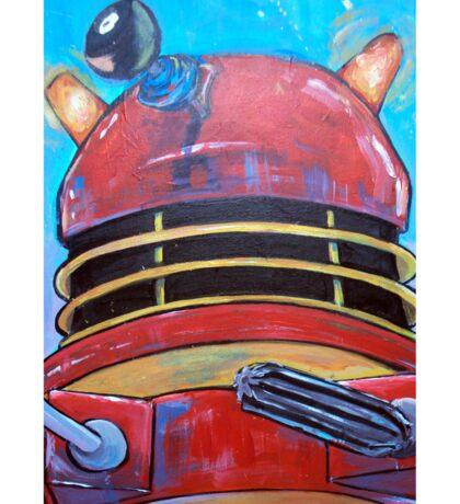 Retro Dalek - celebrating 50 years of Dr Who Sticker