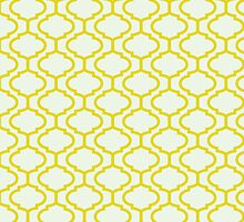 Mughal lattice bright yellow pattern by o2creativeNY