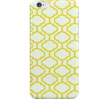 Mughal lattice bright yellow pattern iPhone Case/Skin