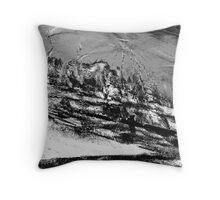 rural town winter storm...  Throw Pillow