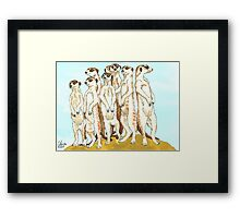 Daily Doodle 11-Meerkats Framed Print