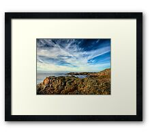 Looking towards Bibette Head - Alderney Framed Print