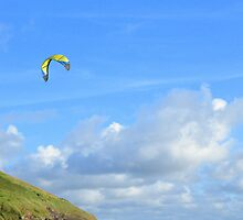 Cornwall: Kite Flying at Daymer Bay by Rob Parsons