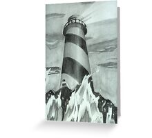 A lighthouse in pencil Greeting Card