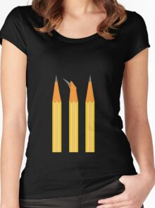 A broken pencil stands out Women's Fitted Scoop T-Shirt