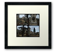 Village Cemetery through the viewfinder Framed Print