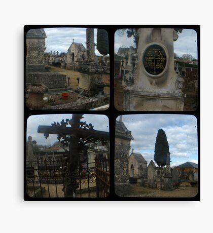Village Cemetery through the viewfinder Canvas Print
