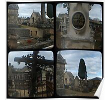 Village Cemetery through the viewfinder Poster