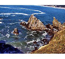 Dizzying heights--Newport Oregon Photographic Print