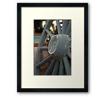 horse carriage wheel Framed Print