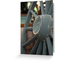 horse carriage wheel Greeting Card