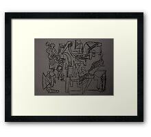 Men at Work Framed Print