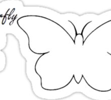Butterfly Crime Scene Sticker