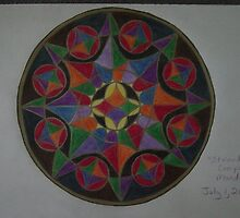 Stained Glass Compass Mandala by Karen Jolley