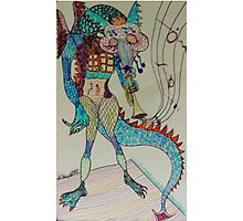 Jazzy Dragon Photographic Print