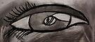 Charcoaled Eye by C Rodriguez