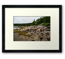 Low Tide - Walking on the Bottom of Saint Lawrence River Framed Print