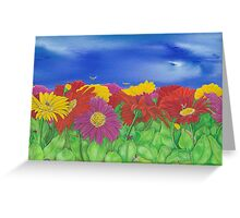 'Little Critters in Gerberas' Greeting Card