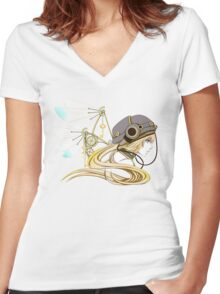 Feathers of Time Women's Fitted V-Neck T-Shirt