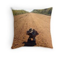 Gravel and bone Throw Pillow