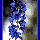 """""""Blue Flower"""" by Maj-Britt Simble"""