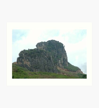 karst mountain Art Print