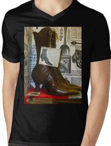 Vintage Shoes Mens V-Neck T-Shirt