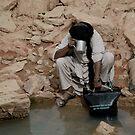 Drinking water from a guelta, Algerian Sahara by Euphemia