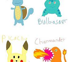 I got drunk and drew some pocket monsters by femmedoe