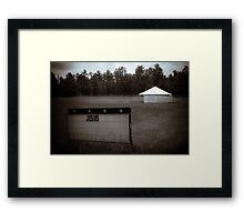 Repent Tent Framed Print