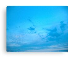 Blue skies, shining at me Canvas Print