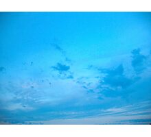 Blue skies, shining at me Photographic Print
