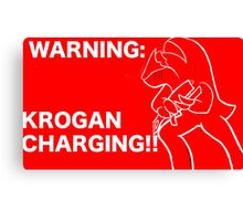 Krogan Charging Canvas Print