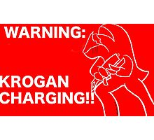 Krogan Charging Photographic Print
