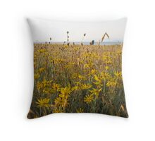 Springtime Gold  - Grassy Point Hornby Island Throw Pillow