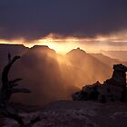 Wind and Sleet at Sunrise, Grand Canyon by ejlinkphoto