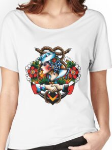 Navy Pinup Women's Relaxed Fit T-Shirt